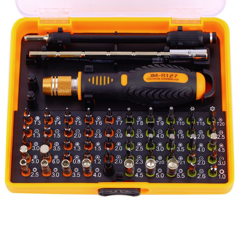 JAKEMY 53 in 1 <font><b>Precision</b></font> Multi-purpose Magnetic Screwdriver with with Trox Hex Cross Flat Y Star for Repairing Phone / PC