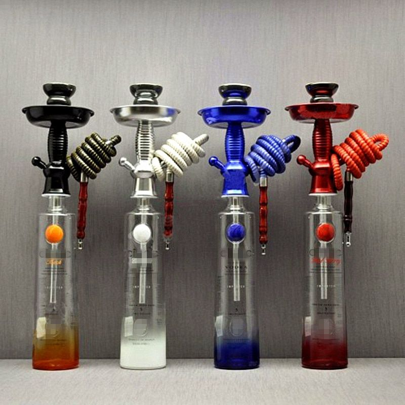 Hookah Shisha Champagne/Wine Bottle Top Hookah Stem Kit HOOKITUP Aluminum Hookah Chicha Complete Set With Bowl And Hose