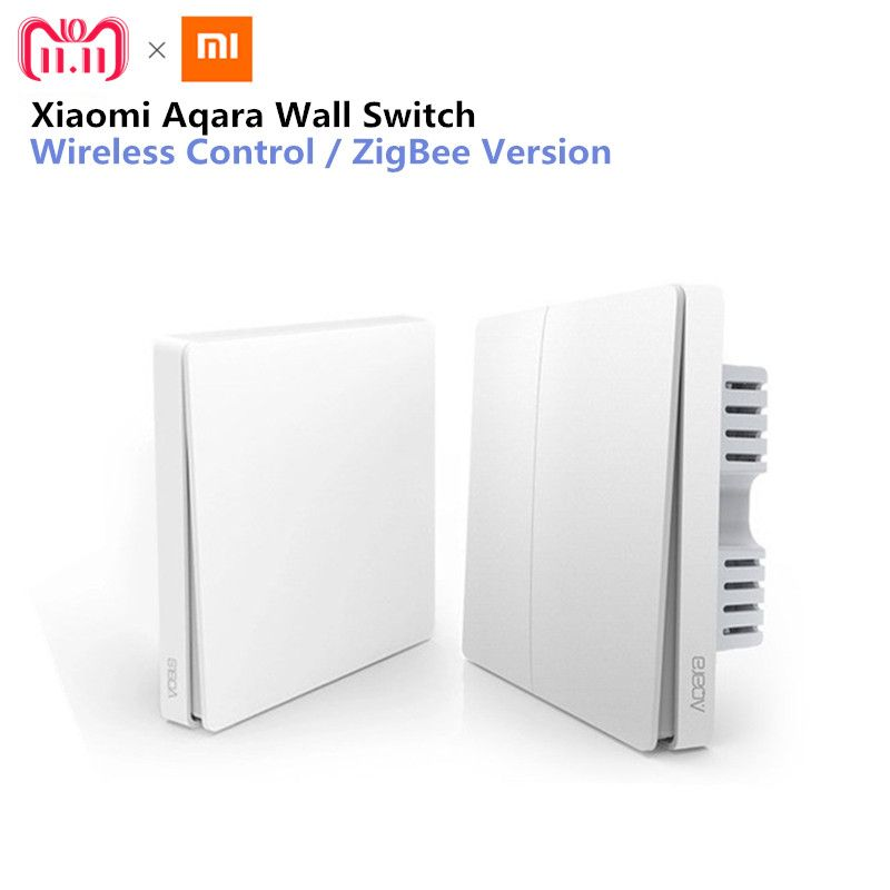 Xiaomi Aqara Wall Switch Smart Light Control ZigBee Version Wireless Connection Single Key Control APP Remote smart home Kit