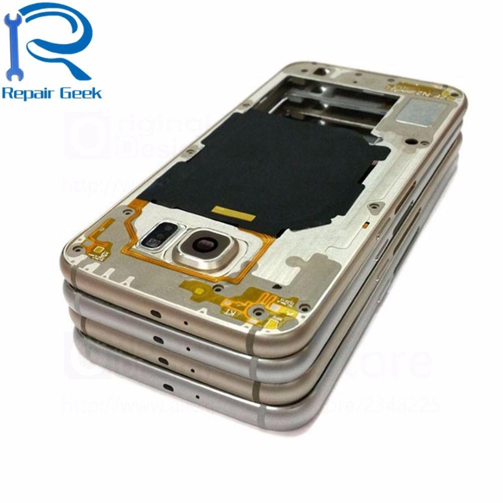 New Grade A+ Middle Housing Frame Bezel Repair For Samsung Galaxy S6 G920F G920A G920V G920P G920T Middle Chassis Plate Bezel