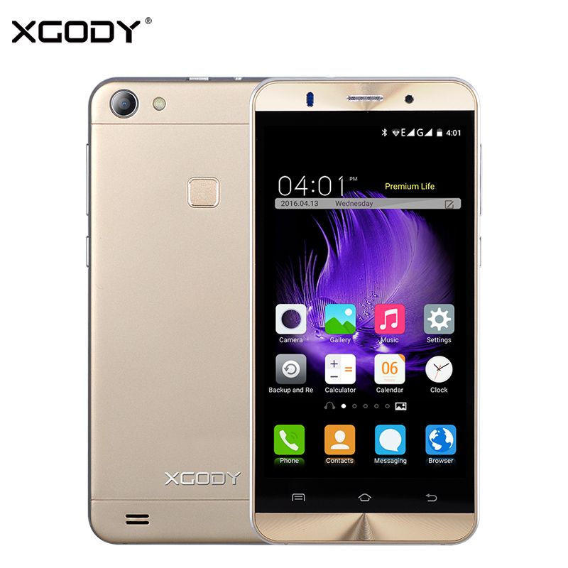 XGODY X15 5.0 Pouce 3G Smartphone Android 5.1 MTK6580 Quad Core mis à jour XGODY X200 1 GB RAM 8 GB ROM Unlock Dual Sim Mobile téléphone