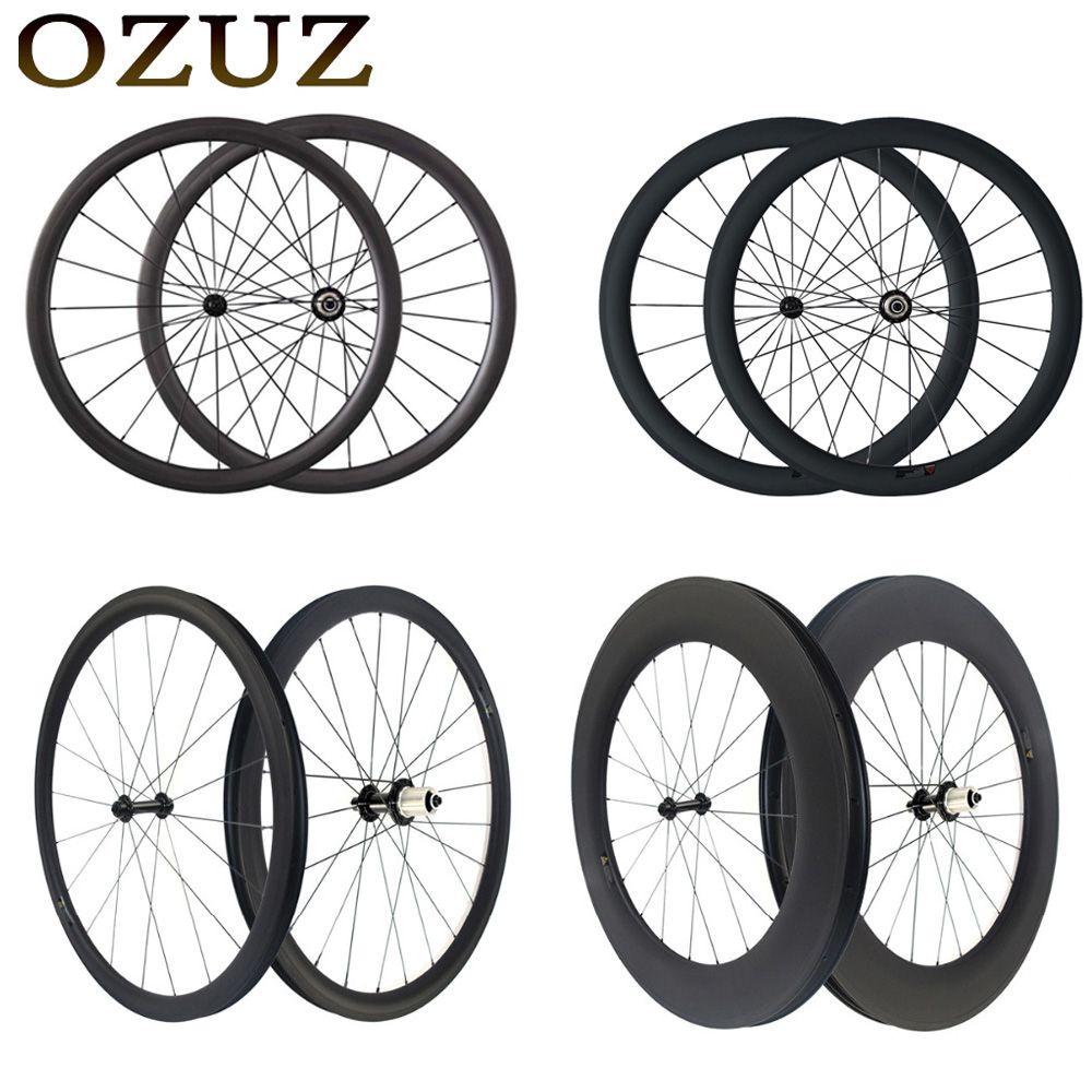 Freies Gewohnheiten Fabrik Verkäufe OZUZ 700C Carbon Laufradsatz schlauch Klammer 38mm 50mm 88mm Tiefe Carbon Fahrrad Räder rennrad Rad