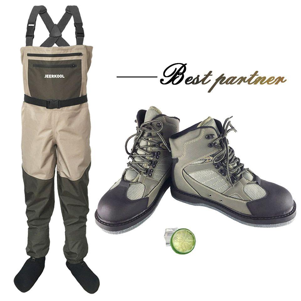 Wert Anzüge (Fly Angeln Schuhe + Hosen) atmungsaktive Rock Waten Schuhe Filz sohle stiefel quick-trocknen Keine-slip Outdoor Wandern Jagd