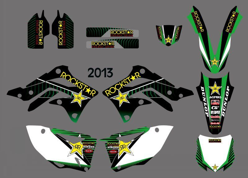 New Style (0361) Star  TEAM GRAPHICS & BACKGROUNDS DECALS STICKERS Kits for  KX450F KXF450 2013