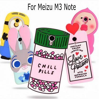 3D Bande Dessinée ZOOTOPIA Lapin Amour Potion Chill Pills Minion garçon larmes couverture souple en silicone pour Meizu M3 note Meilan Note 3