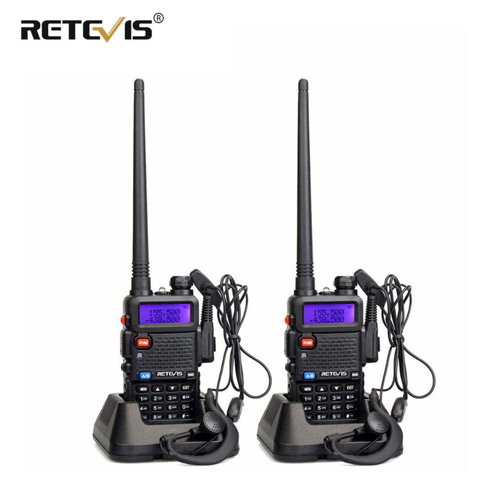 2pcs Retevis RT-5R Walkie Talkie Radio 128CH VHF UHF Dual Band Ham Radio Amador Hf Transceiver 2 Way cb Radio Communicator RT5R