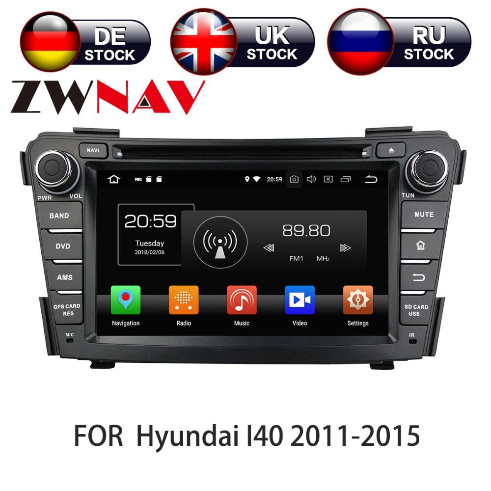 7 inch Android 7.1 Car DVD Player GPS Head Unit HD for HYUNDAI I40 I-40 2011-2016 multimedia stereo auto
