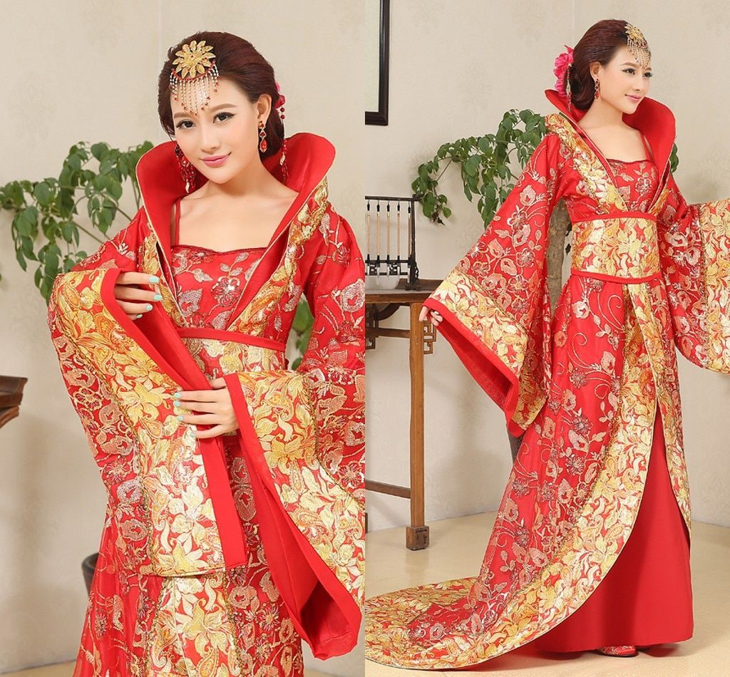Luxury Chinese Moon Fairy Costume Clothing Han Dynasty Princess Ancient Royal Hanfu Female Imperial Concubine Empress Cosplay
