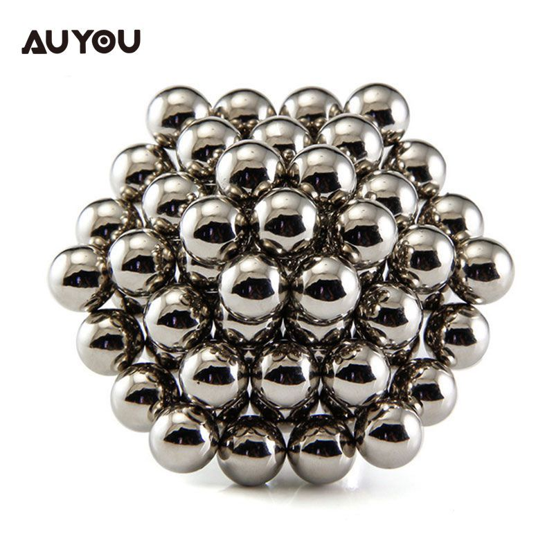 AU YOU 3mm-5mm 216pieces 3D Cube Sphere Puzzle Kids Education Magnet Balls Toy