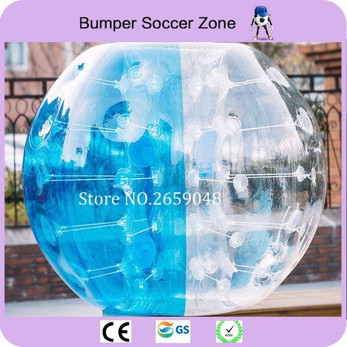 Freies Verschiffen 0,8mm 100% PVC 1,5 mt Aufblasbaren Fußball Blase Fußball Stoßkugel Fußballblase Körper Zorb Ball