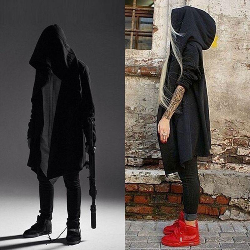 male goth Goths bandage trench male autumn and winter outerwear black novelty punk cloak goth belt men mens cloaks punk