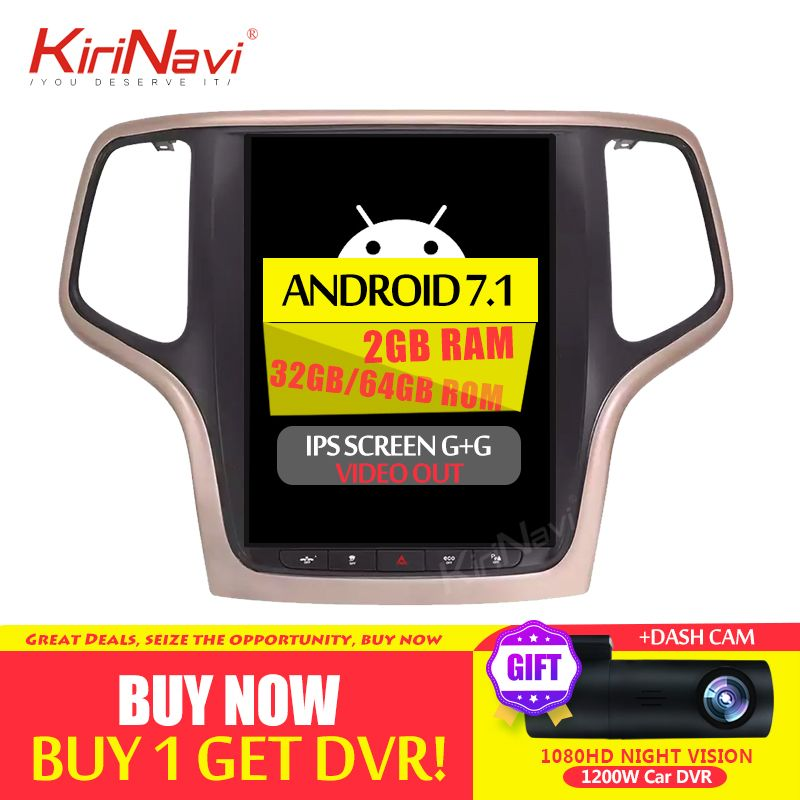 KiriNavi 10,4 PX6 Android 8.1 Auto Radio GPS Für JEEP Grand Cherokee Auto DVD Radio Audio GPS Navigation 2014 + bluetooth WIFI 4G