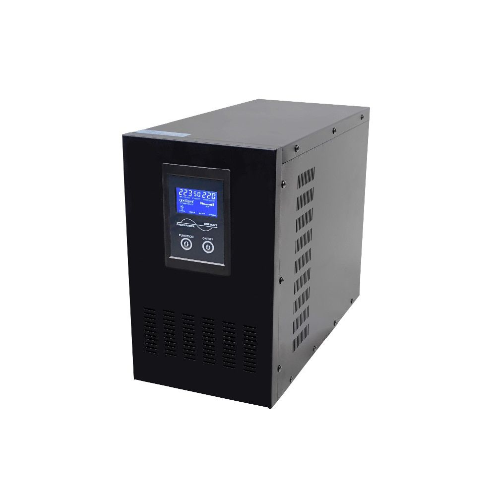 LCD display 4KVA 3200W DC24V TO AC220V Low Frequency Pure Sine Wave Line interactive UPS with battery charging function