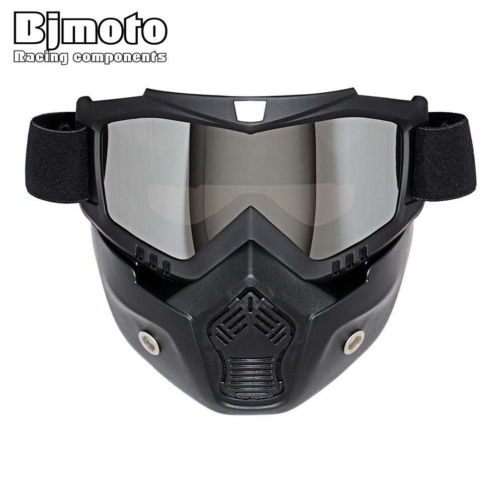 Hot Sales Modular Mask Detachable Goggles And Mouth Filter Perfect for Open Face Motorcycle Half <font><b>Helmet</b></font> or Vintage <font><b>Helmets</b></font>