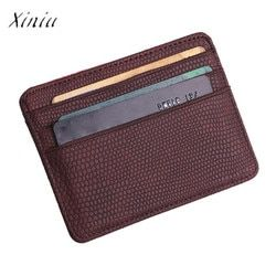 Fashion Women Lichee Pattern Bank Card Package Coin Bag Card Holder Travel Leather Men Wallets Women Credit Card Holder Cover