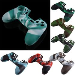 ALLOYSEED Silicone Gamepad Skin Cover Case Camouflage Color Anti-Slip Game Controller Protector Case Shell for PlayStation 4 PS4