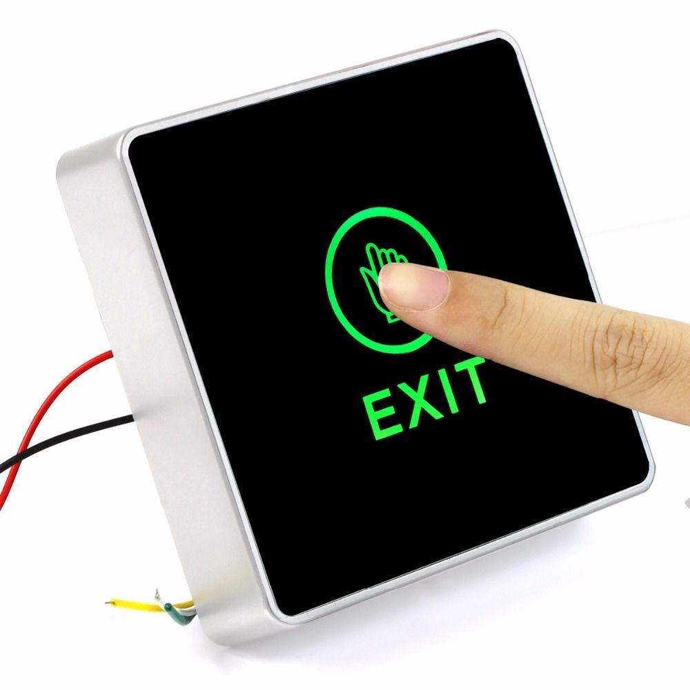 Generisches DC 12 V NC KEIN Release Button Touch Sensor Tür Ausfahrt mit LED-Licht Für Zugangskontrollsystem F1742A