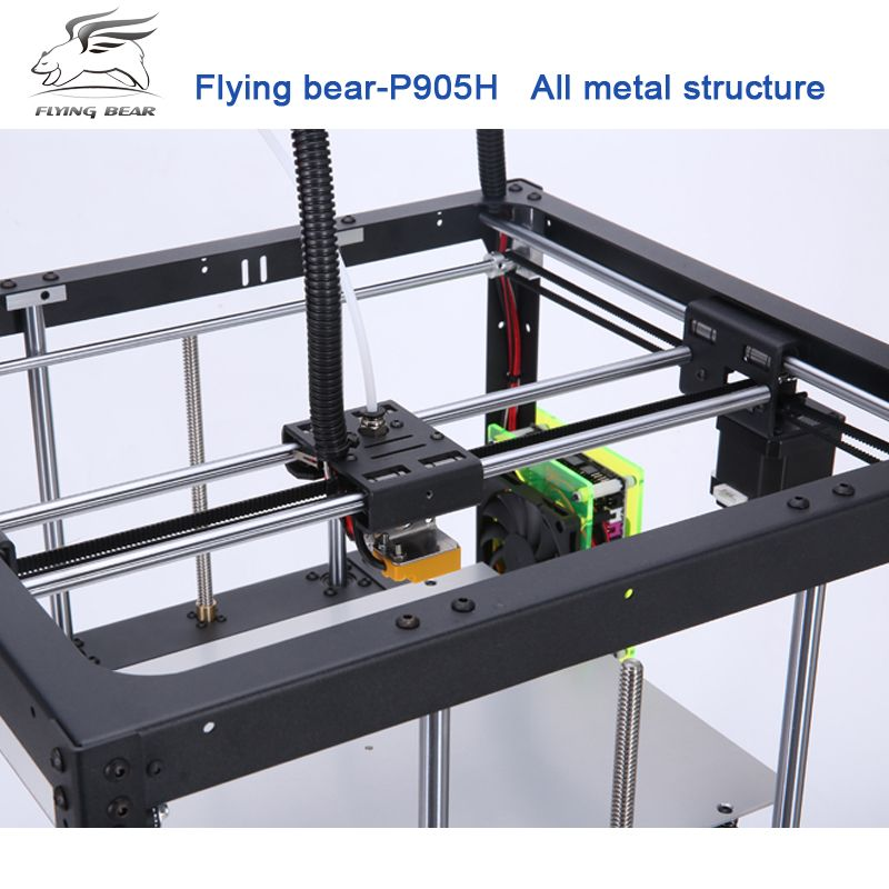 2018 Newest Flyingbear P905H DIY 3d Printer kit Full metal Large printing size High Quality Precision Makerbot Structure Gift