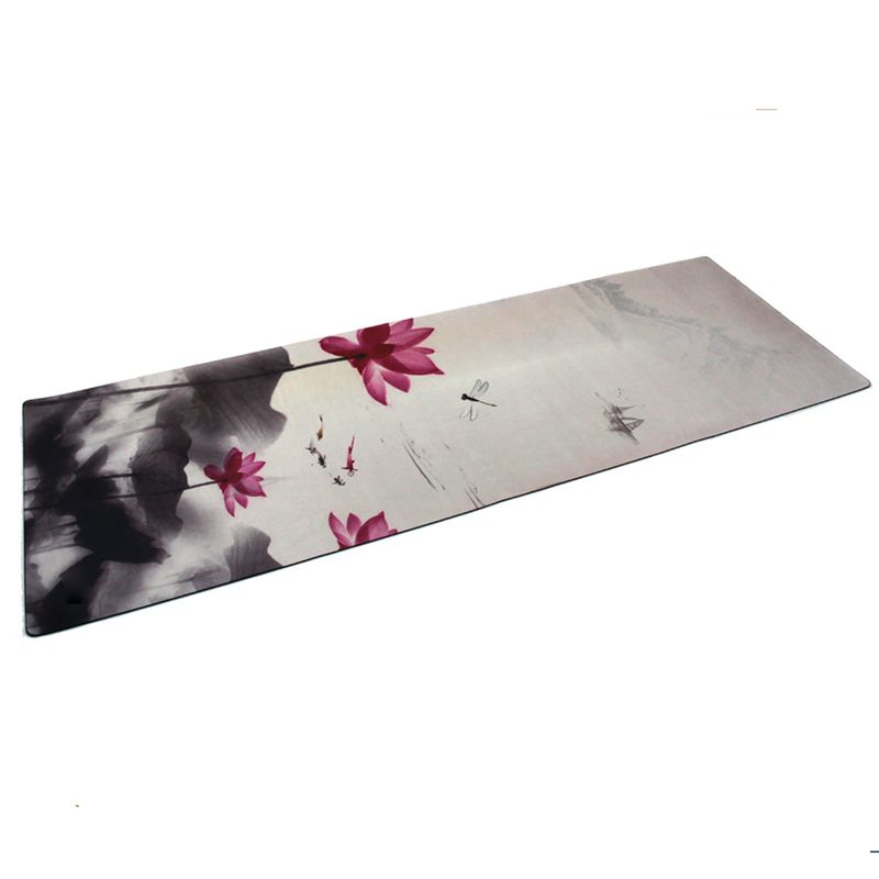 New 183cm*61cm*3.5mm Natural Rubber Absorb Sweat Environmental Comfortable Suede Fabric Non-Slip Lose Exercise Yoga Mat