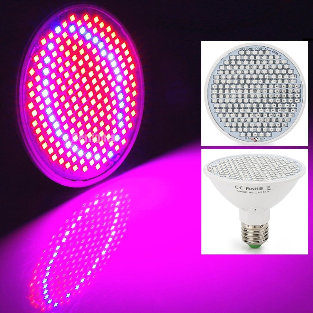 20W LED Plant Grow Light E27 AC85-265V SMD3528 166Red+34Blue For Flowering Plant and Hydroponics System For Indoor Grow Box