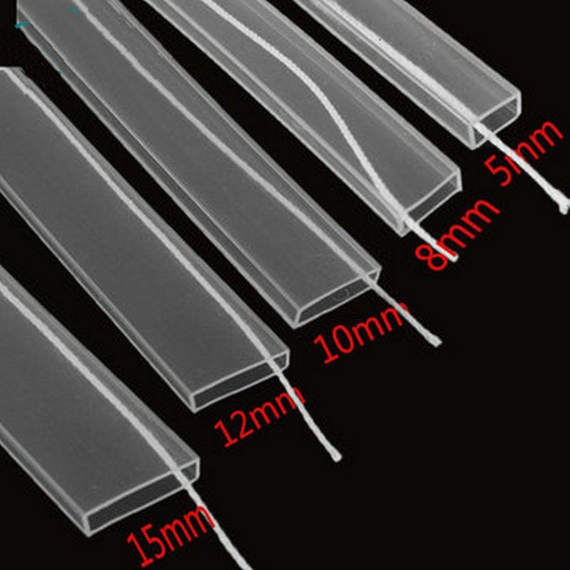 Tube de silicium IP67 5 m/10 m longueur 8mm/10mm/12mm pour SMD5050 3528 3014 5630 ws2801 ws2811 ws2812b bande led étanche Silicone cilp