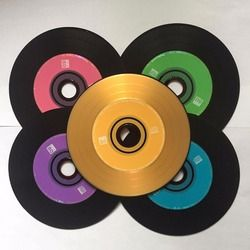 Wholesale 10 Discs Premium Professional Multicolor Grade A 700 MB 52x Blank Black Printed CD-R Disc