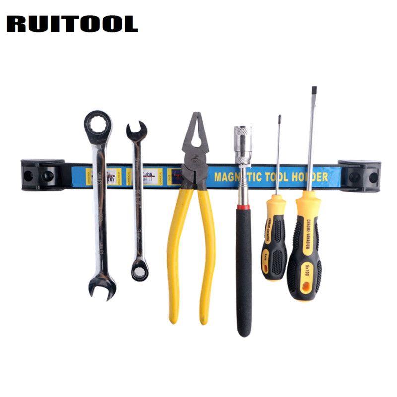RUITOOL Magnetic Tool Holder 345mm/500mmTool Shelf Metal Magnet Storage Tool Great For Garage Workshops Kitchen