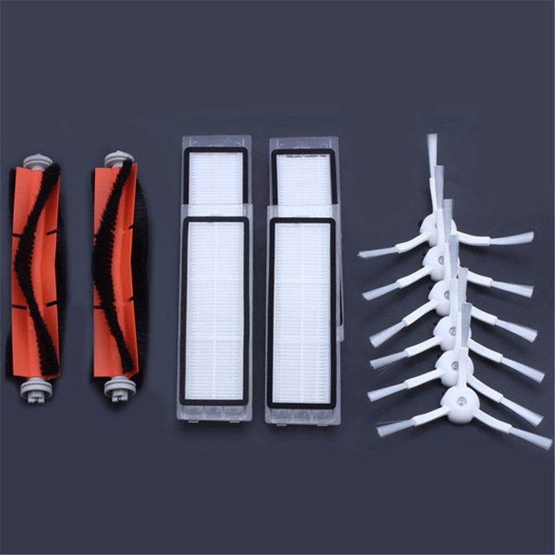 6 x brosse latérale + 4x filtre HEPA + 2x brosse principale Approprié pour xiaomi vide 2 roborock s50 xiaomi roborock xiaomi mi Robot