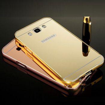 Pour Samsung J2 Premier Cas En Aluminium En Métal Cadre Acrylique Miroir Cas de Couverture arrière Pour Samsung Galaxy Grand-Premier G532 J2Prime pare-chocs