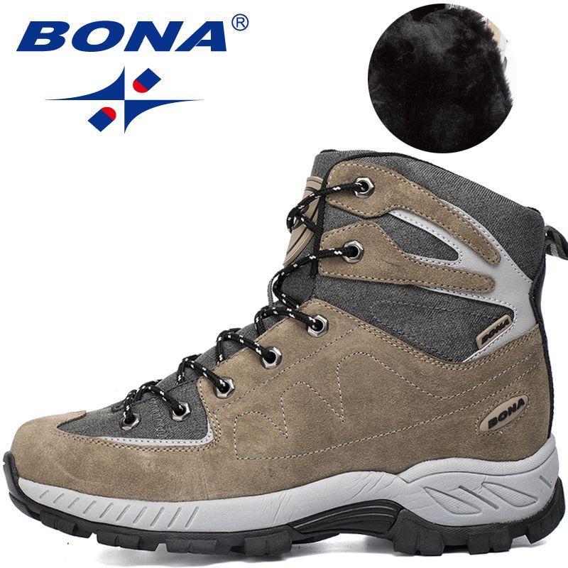 BONA Neue Heiße Art Männer Wanderschuhe Outdoor Wanderschuhe Jogging Trekking Sneakers Lace Up Trail Stiefel Klettern Outventure Schuhe