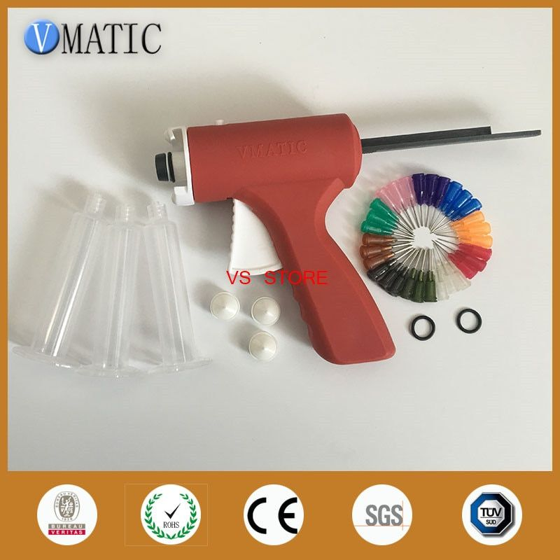 New 10ML manual syringe gun/ Epoxy Caulking Adhesive Gun single liquid glue gun/dispense gun with dispense tips & syringe barrel