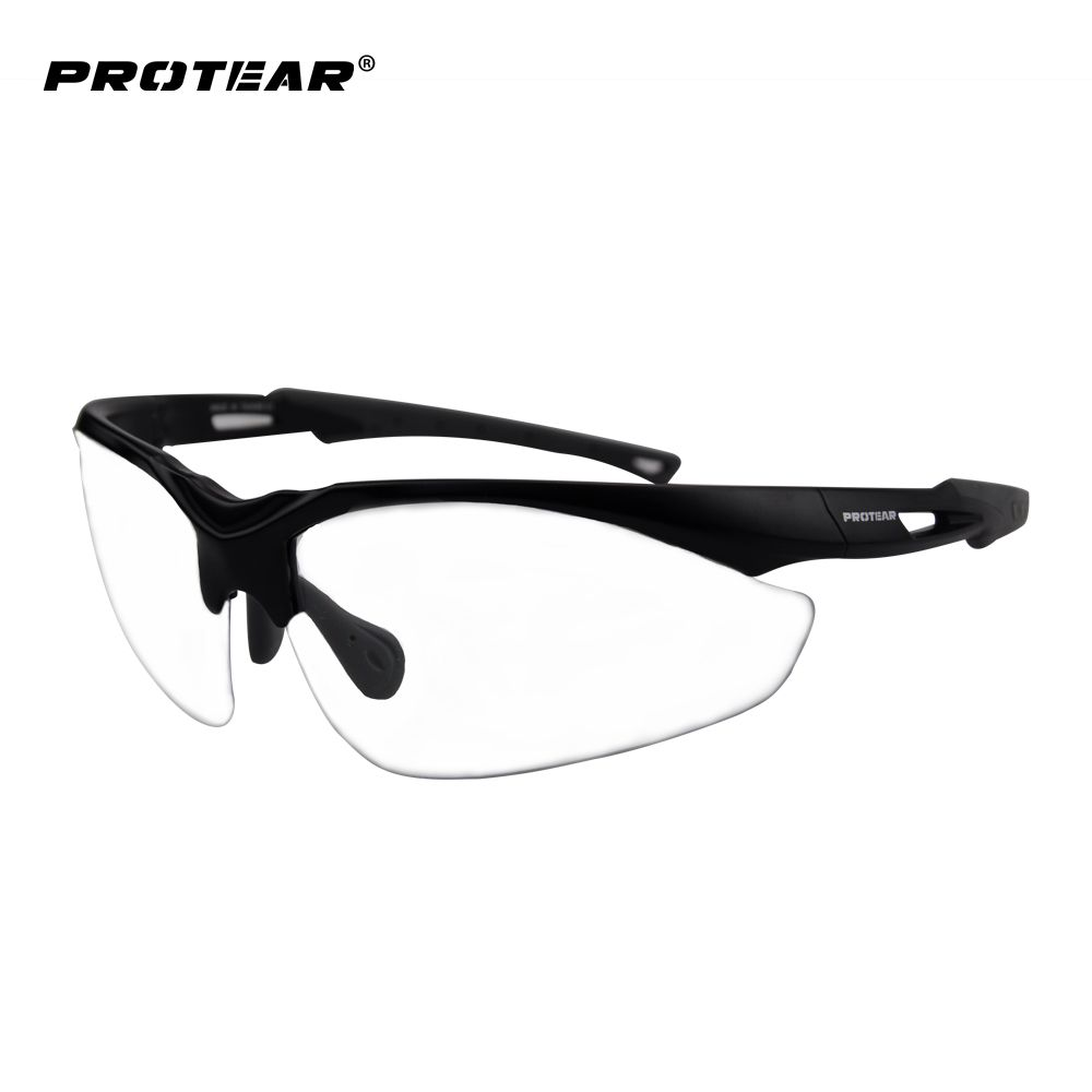 Protear Safety Glasses Protective Eyewear Clear Anti Fog Scratch Resistant Lens Military Ballistic Standard UV 400 Protection