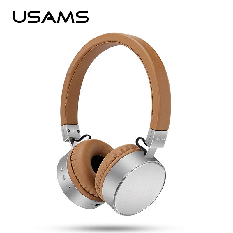 Original USAMS bluetooth headset Stereo Heavy Bass Microphone wireless headphones for computer phones music