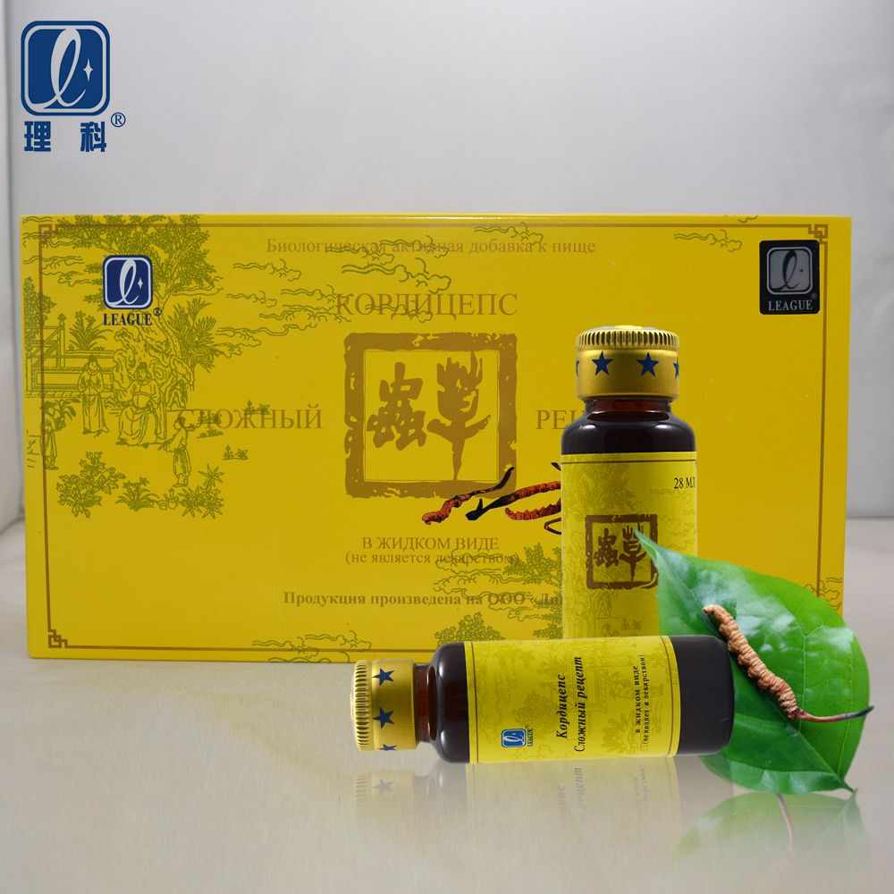 1pack=6 bottles league Compound Cordyceps sinensis anti aging strong kidney cordyceps herbs enhance immunity anti cancer