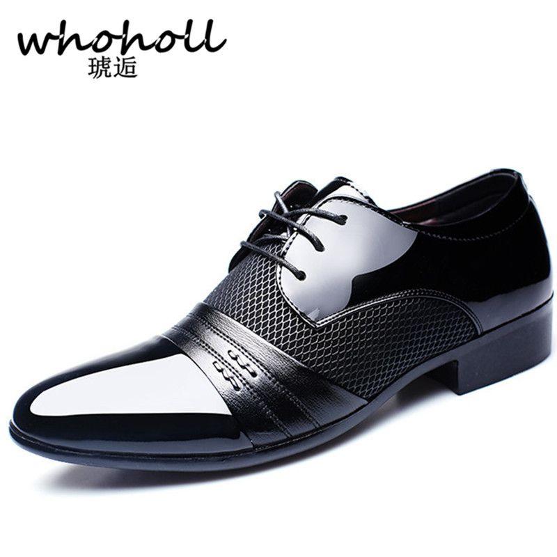 Whoholl 2017 Hommes robe Arrivée Hauteur Croissante Hommes Appartements Chaussures Respirant Chaussures Hommes Chaussures D'affaires de Robe De Mariage Chaussures
