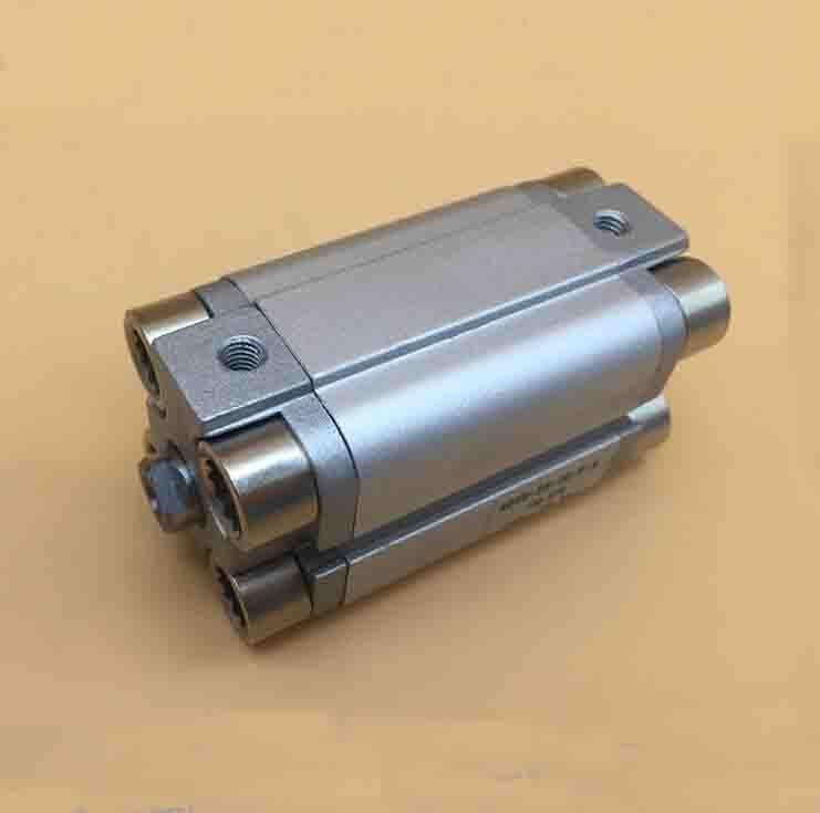 bore 25mm X 225mm stroke ADVU thin pneumatic impact double piston road compact aluminum cylinder