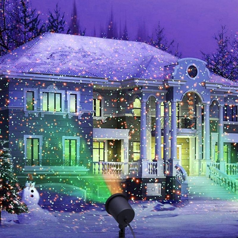 Outdoor Laser Projector Light Waterproof Garden Path Pond Lawn Sky Laser Shower Lamp Christmas Xmas Holiday Spotlight