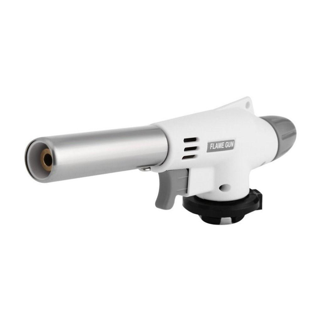 La maison Poêle Flamme Gun Torche Vent Entièrement Automatique Électronique Butane Gaz Brûleurs Gun Adaptateur Pour Allume Pour BARBECUE