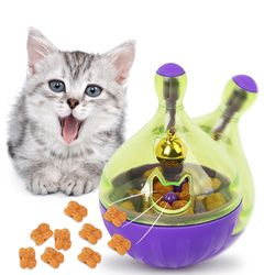 YVYOO التفاعلية القط لعبة الذكاء علاج الكرة أذكى الحيوانات الأليفة اللعب الغذاء الكرة الغذاء موزع للقطط لعب التدريب مستلزمات الحيوانات الأليف...