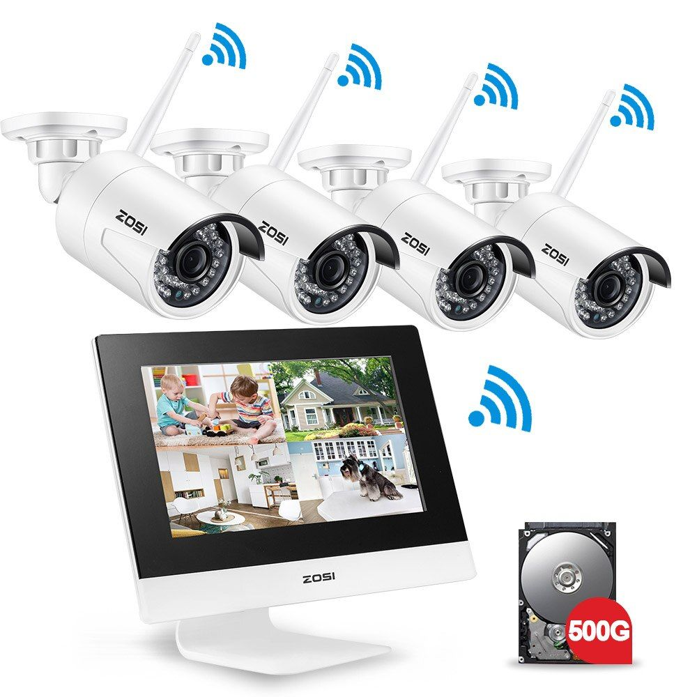 ZOSI 4CH CCTV System Wireless 960P 10