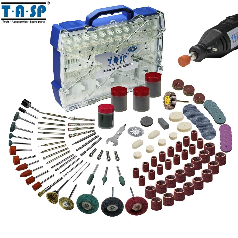 TASP 268pcs Electric Mini Drill Bit Accessories Set Abrasive Tools Compatible with Dremel <font><b>Rotary</b></font> Tool for Grinding Polishing