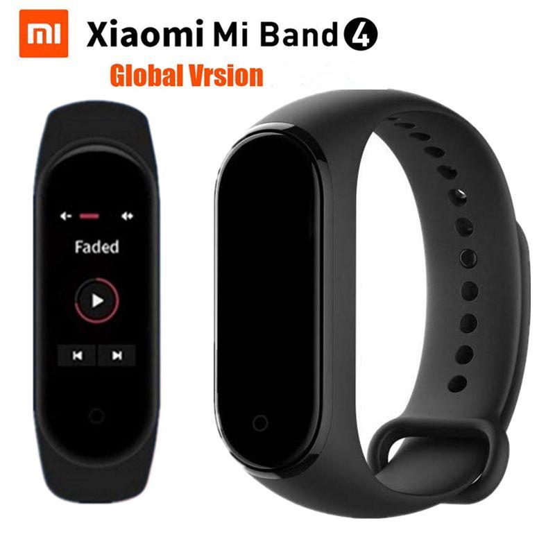 Xiao mi bande 4 Bracelet de remise en forme nager 5ATM passomètre Sport bande intelligente 0.95 couleur AMOLED écran mi bande 4 Global Bluetooth 5.0