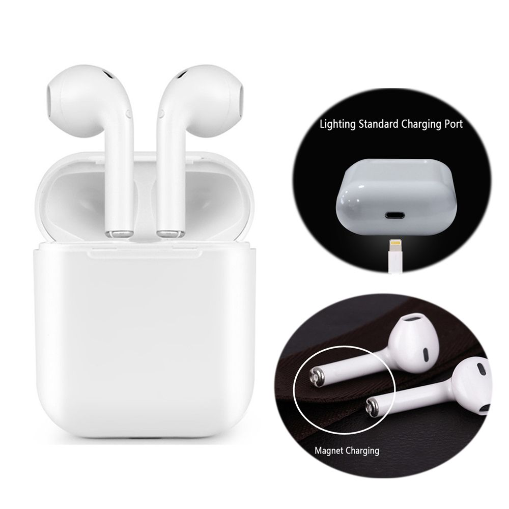 Magnetic Charger Box Earbuds IFANS I9 TWS Bluetooth Earphone Mini Wireless In Ear Headset V4.2 Stereo Headphones For IOS Android