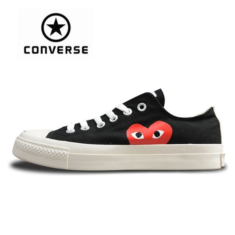 Converse CDG X Chuck Taylor 1970s HiOX 18SS Skateboarding Shoes Sport Black Authentic For Men And Women Unisex 150210C 35-44
