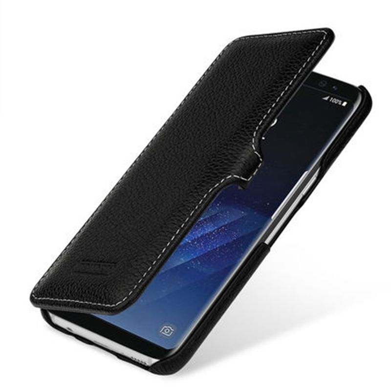 Pure Handmade Luxury Cow Genuine Leather Case for Samsung Galaxy S8/S8 Plus 5.8/6.2inch Fashion Flip Phone Cover Bag+Free Gift