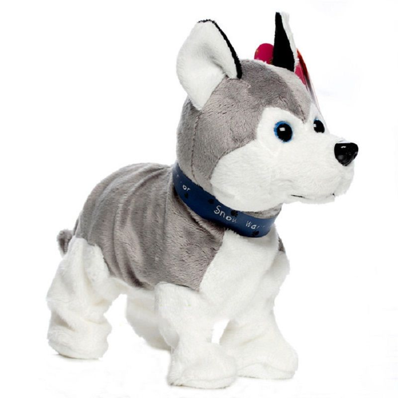Lovely Electronic Dogs Pets Sound Control Interactive <font><b>Robot</b></font> Toy Dog Bark Stand Walk Electronic Pet Toys Christmas Gift For Kids