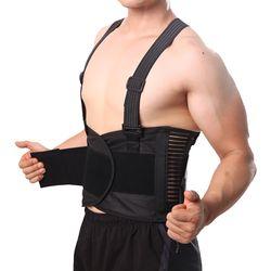 Nyeri Sabuk Kembali Korset untuk Pria Angkat Berat Kerja laki-laki kembali Dukungan Lumbar Support Belt Postur Korektor Brace Bahu Straps Y001