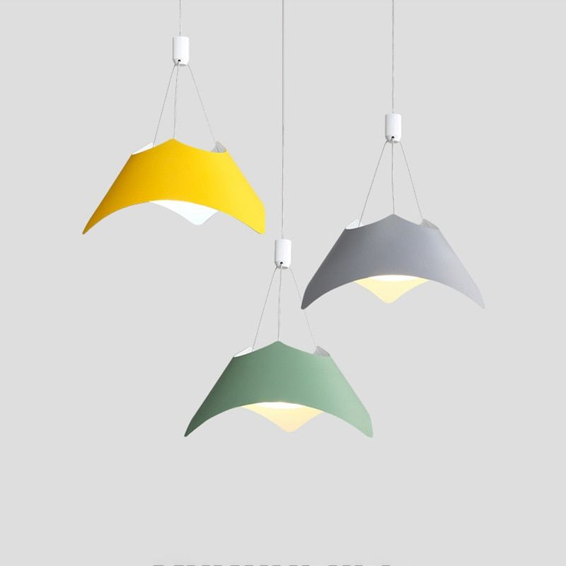 New arrival modern simple LED pendant lights macaron colorful creative model droplight for foyer restaurant kids room lighting