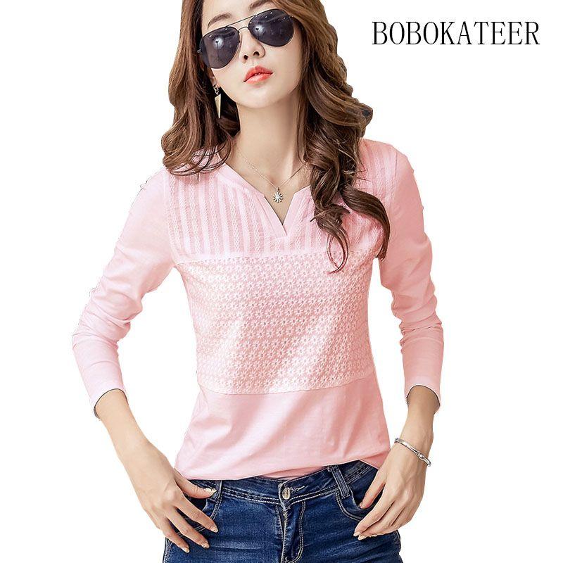 BOBOKATEER plus size womens tops and blouses blusas mujer de moda 2018 chemise <font><b>femme</b></font> embroidery blouse white shirt women clothes