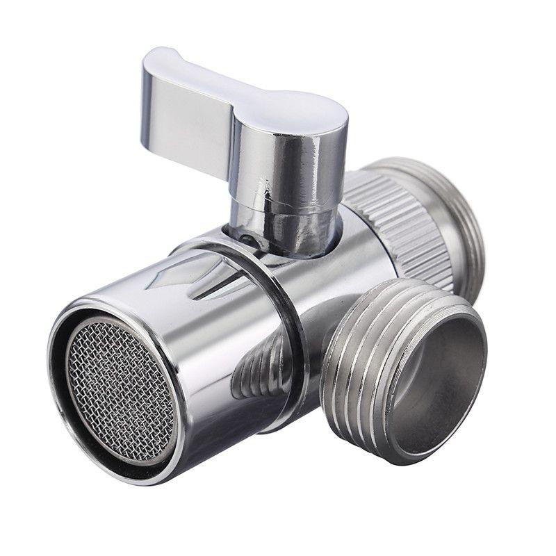 Hohe Qualität Home Bad Küchenwaschbecken Wasserhahn Messing Umsteller Chrom Poliert Wasserhahn Filter Ventil Ersatzteil